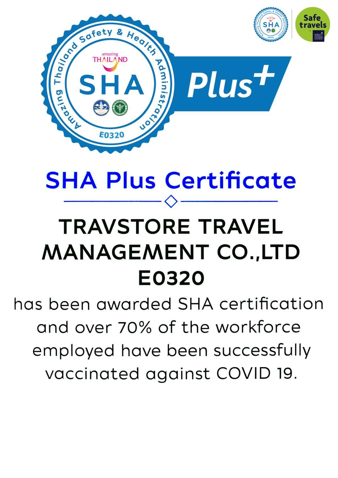 Travstore SHA Plus Certificate